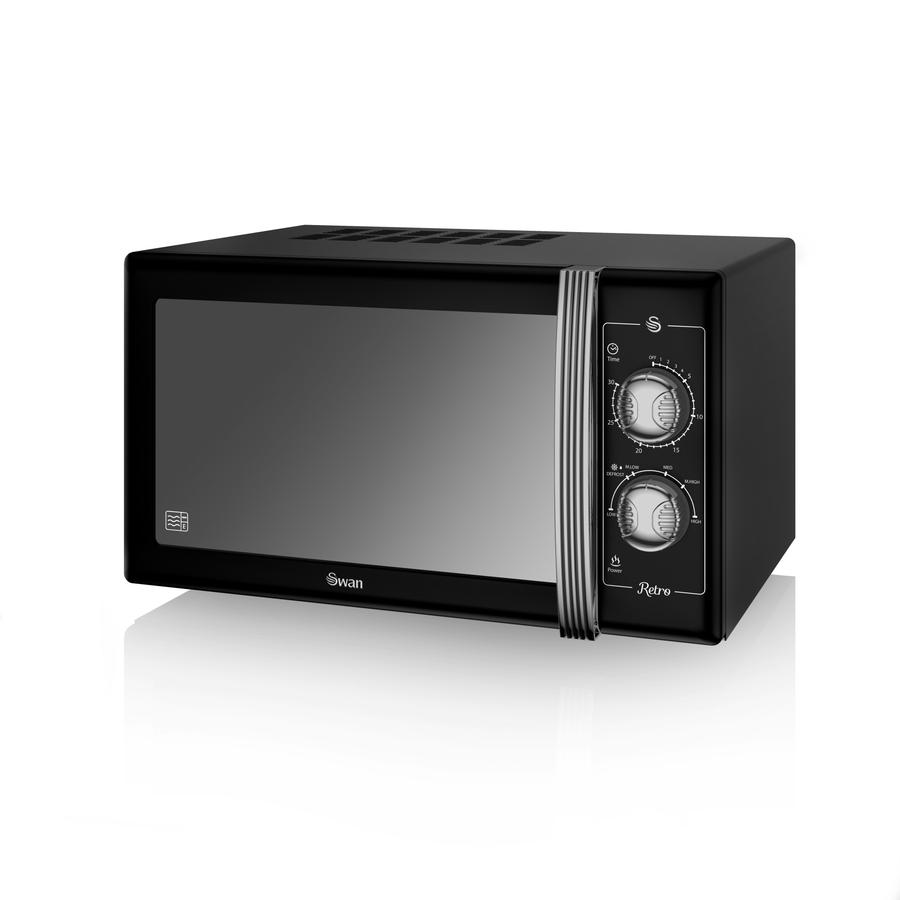 Swan 25 Litre SM 22070BLN Retro Manual Microwave Review